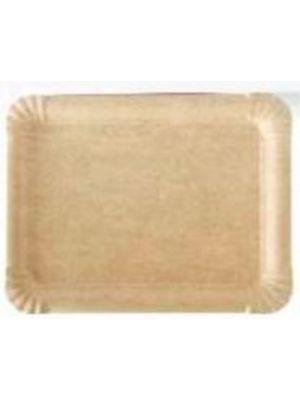 Bandeja de cartón marrón 15x23 cm