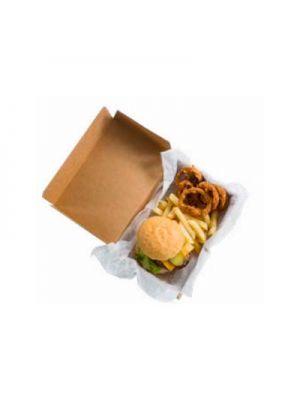 Caja de cartón hamburguesa extragrande XL