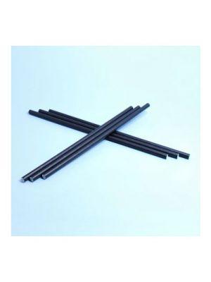 Pajitas para refrescos de papel negras - 6mm x 20cm