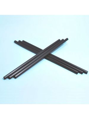 Pajita gruesa larga bio de PLA negra - 8 mm x 25 cm